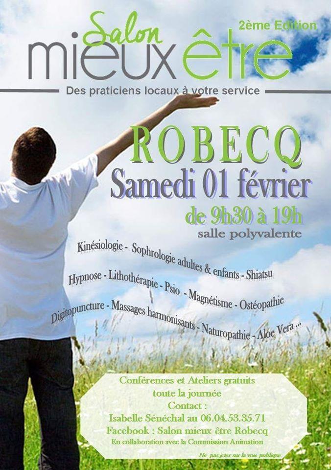 Affiche salon du mieux être à Robecq 1 février 2020