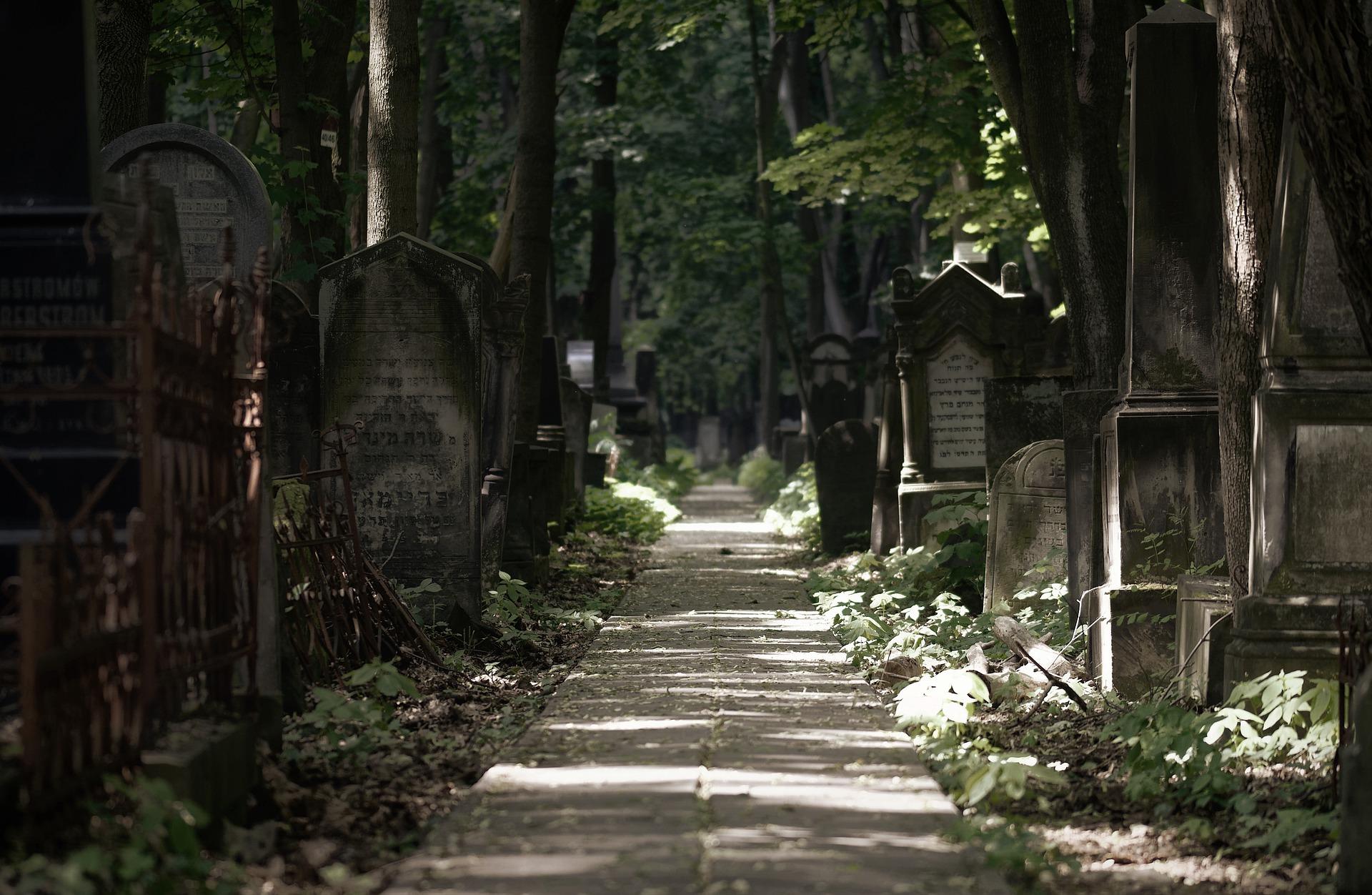 histoire à méditer, un chemin dans un cimetière